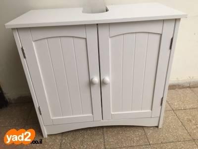 תוספת ארון כיון עשוי מעץ לחדר כלים סניטריים לאמבטיה ולשירותים ארונות SV-69