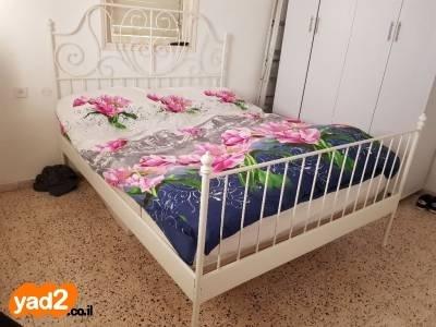 מגניב ביותר מיטת ברזל של איקאה במצב מעולה ריהוט מיטות מיטה זוגית יד שניה - ad KM-79