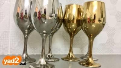 ניס 6 כוסות יין מעוצבות כל לבית כלי אוכל יד שניה - ad CR-73